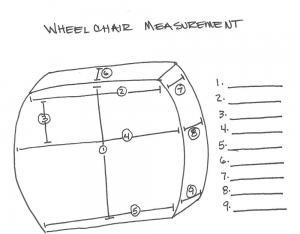 Wheelchair back measurements