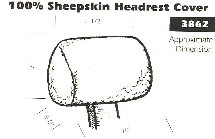 100 Sheepskin Headrest Cover