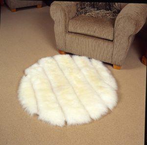 Designer Round Sheepskin Rug