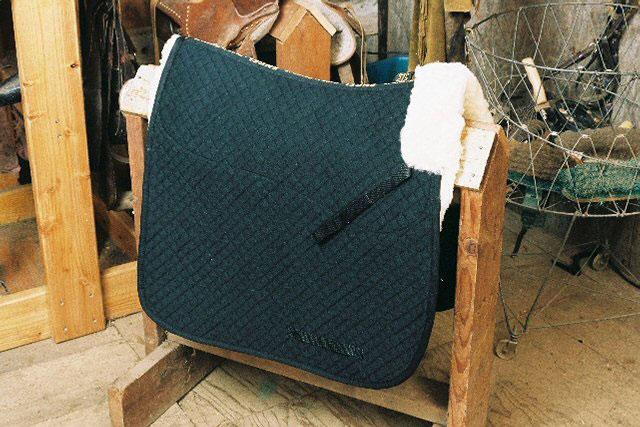 Dressage Saddle Blanket with Pommel Roll