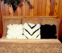 Chevron Sheepskin Pillows