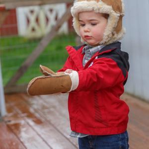 Child's Sheepskin Mittens
