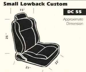 Small Lowback Custom Bucket Seat