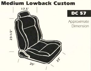 Medium Lowback Custom Bucket Seat