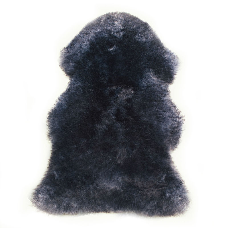 sheepskin-blue-black rug