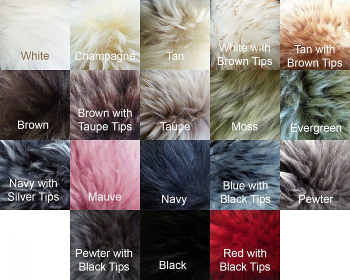 Sheepskin Long Wool Colors