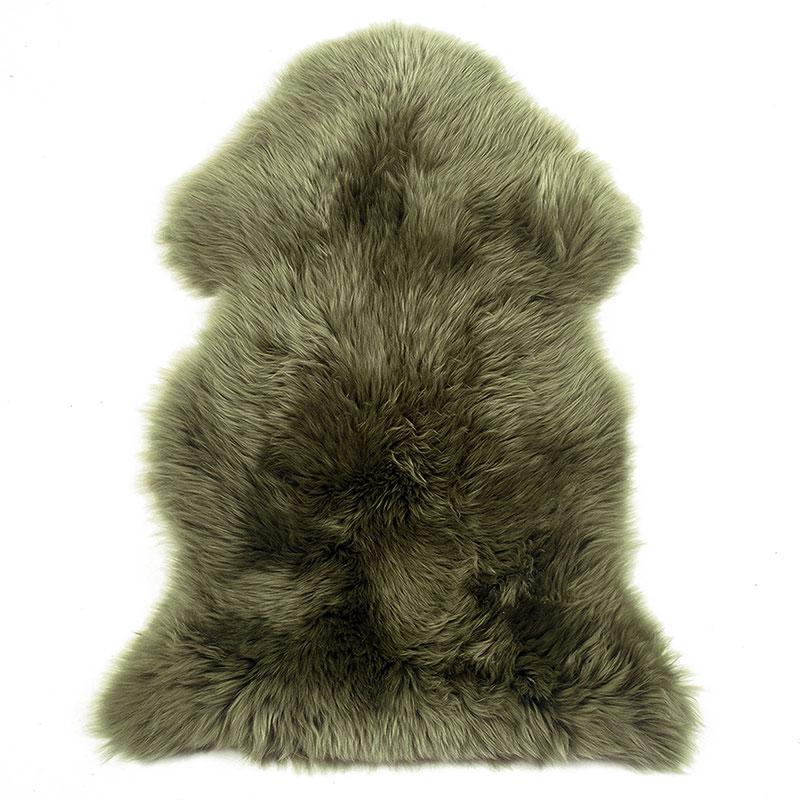 sheepskin-moss-green rug