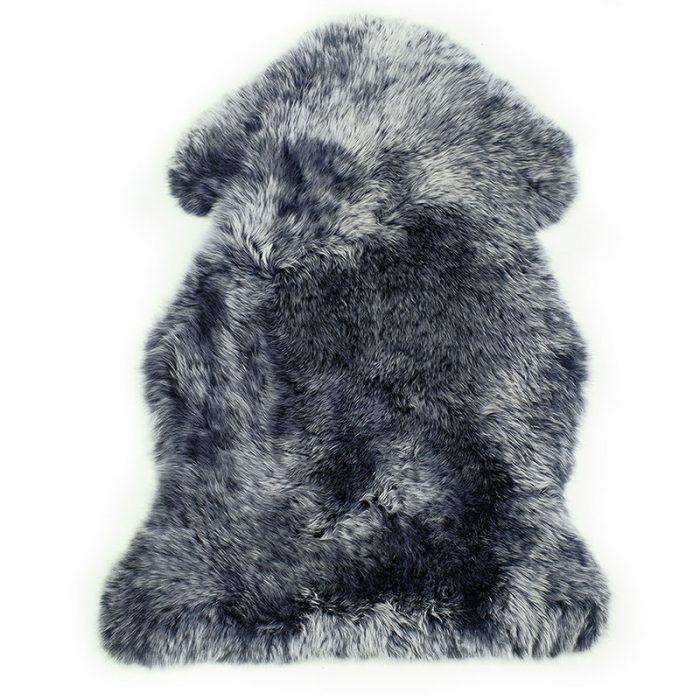 sheepskin-navy-silver tips rug