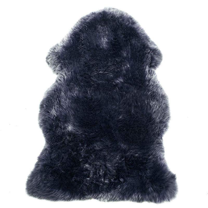 sheepskin-navy rug