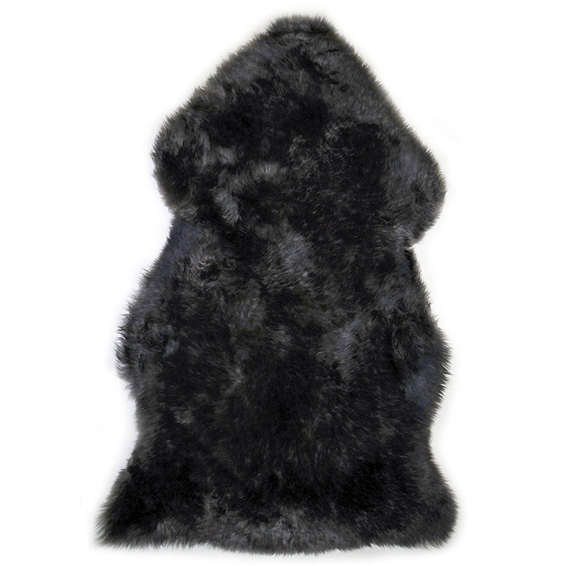 sheepskin-pewter-black rug