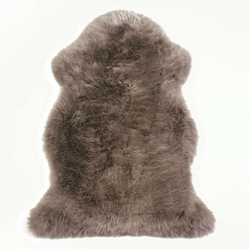sheepskin-taupe rug