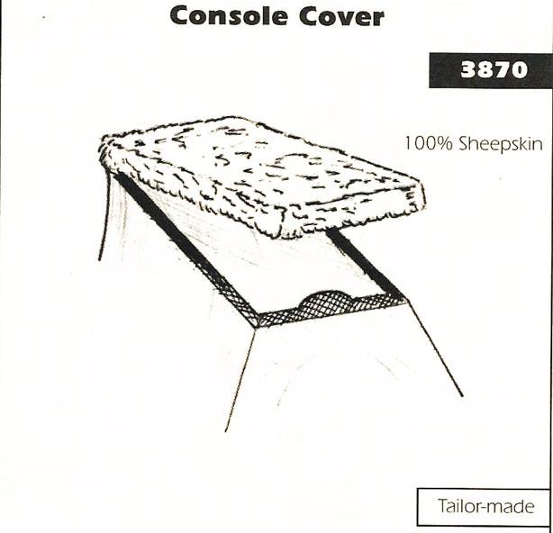 Sheepskin Console Cover