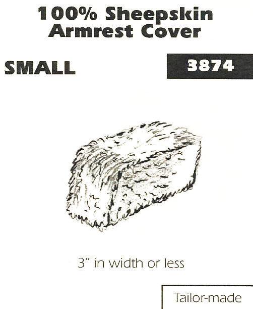 100% Sheepskin Armrest Cover Small