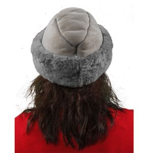 English Sheepskin Fur Hat Gray