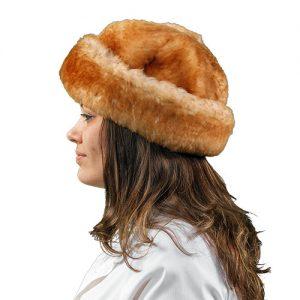 Sheepskin Jackie Fur Hat Natural