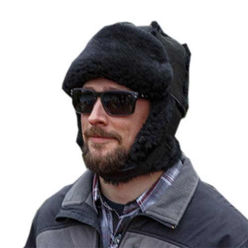 Sheepskin Mounty Fur Hat Black