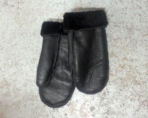 Black Nappa Mittens
