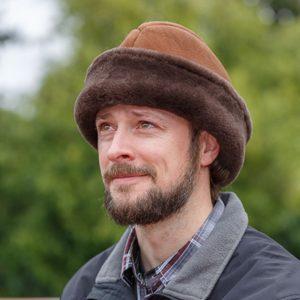 English Sheepskin Fur Hat