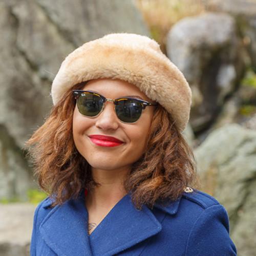 Tan Sheepskin Fur Hat