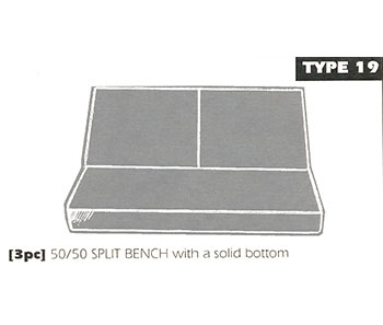 Back Bench Sheepskin Seat Cover Type 19