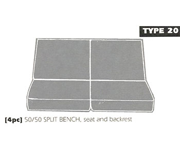 Back Bench Sheepskin Seat Cover Type 20