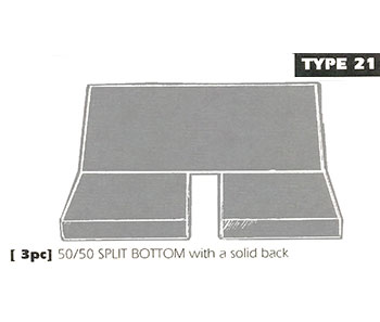 Back Bench Sheepskin Seat Cover Type 21