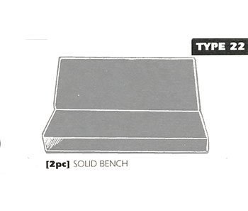 Back Bench Sheepskin Seat Cover Type 22