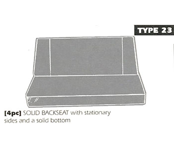 Back Bench Sheepskin Seat Cover Type 23