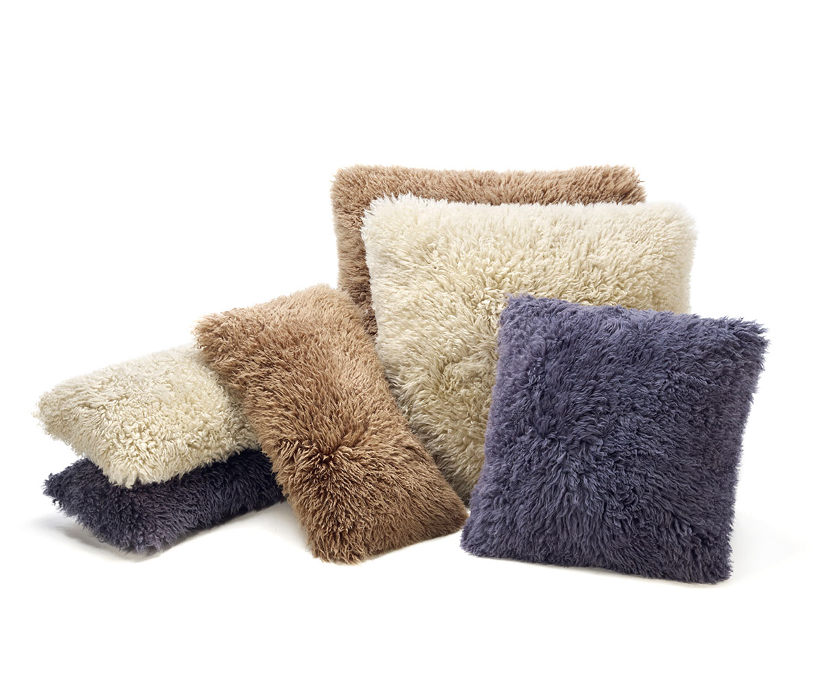 Naturally Curly Sheepskin Pillows