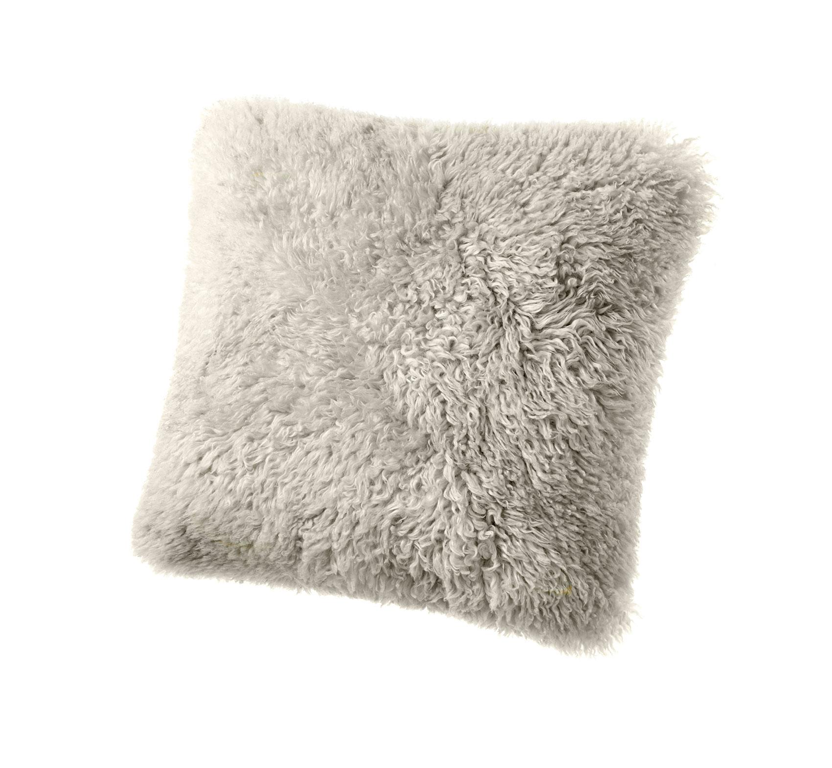 Sheepskin Pillow Beige