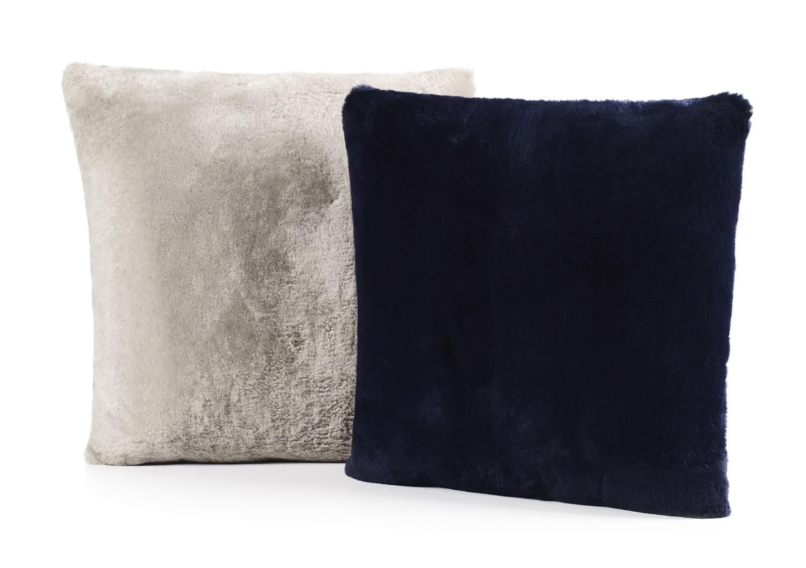 Shearling pillows