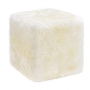 Sheepskin Cube Chair of Table Ivory