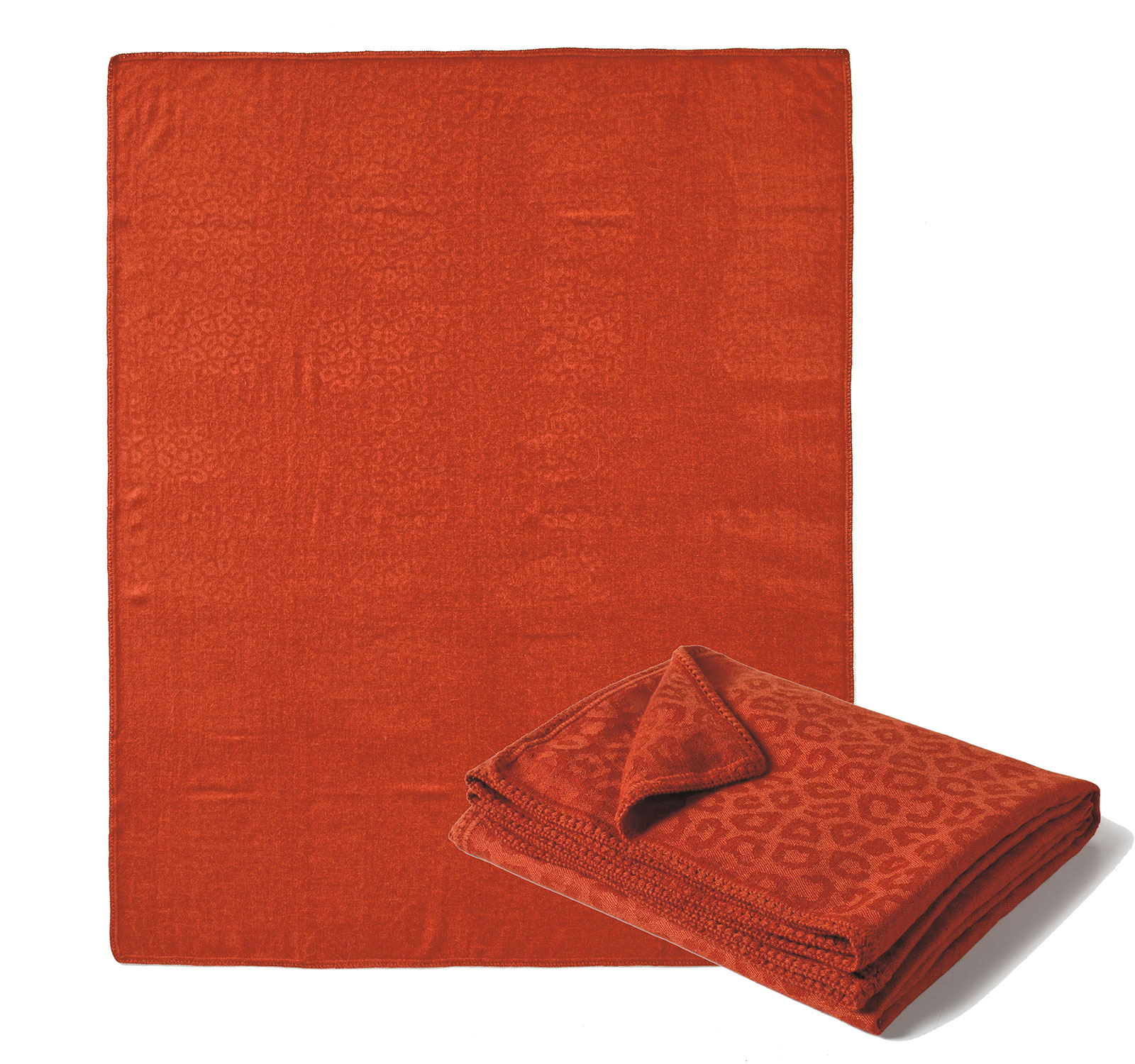 Rust Orange Alpaca Throw