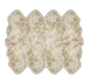 Sheepskin Rug 8 Pelt Linen