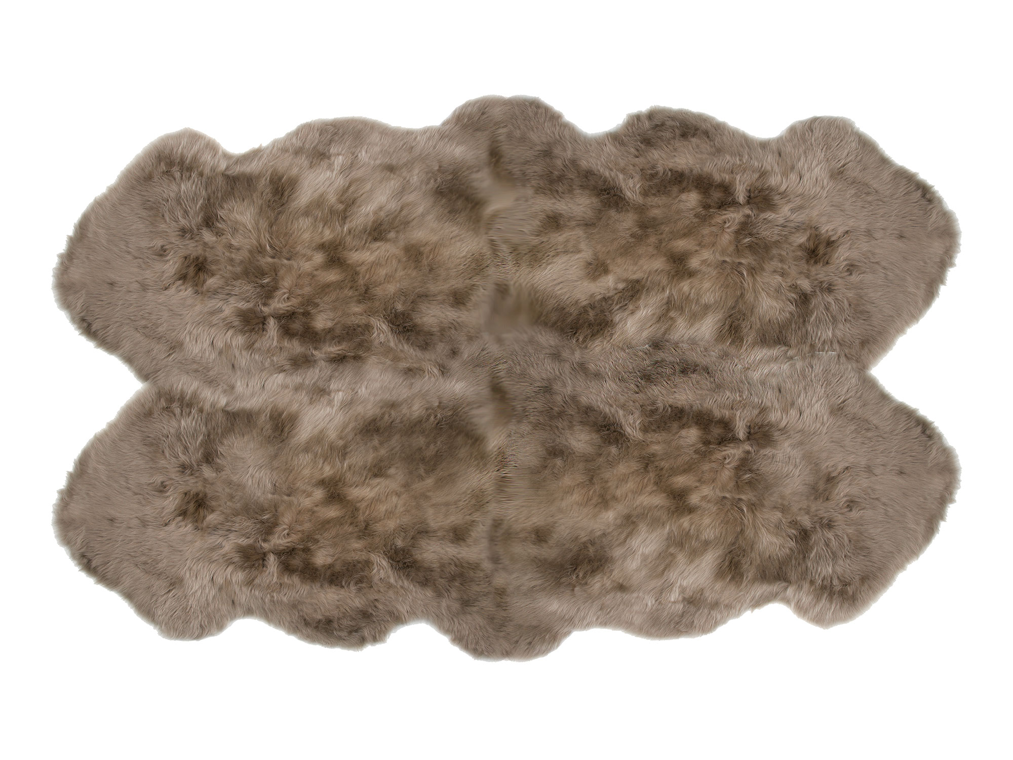 Sheepskin Rug 4 Pelt Taupe