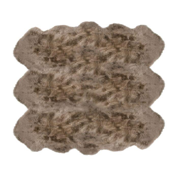 Sheepskin Rug 6 Pelt Taupe