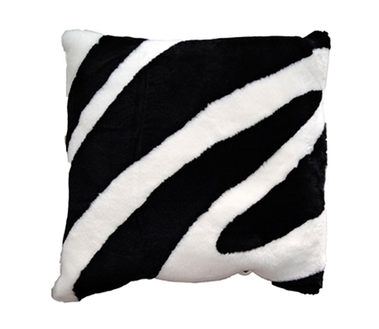 Zebra Shearling Pillow