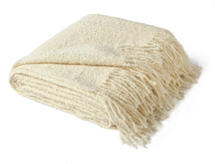 Alpaca Throw Cream