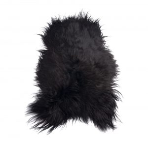 Icelandic Sheepskin pelt Rug Brown Black