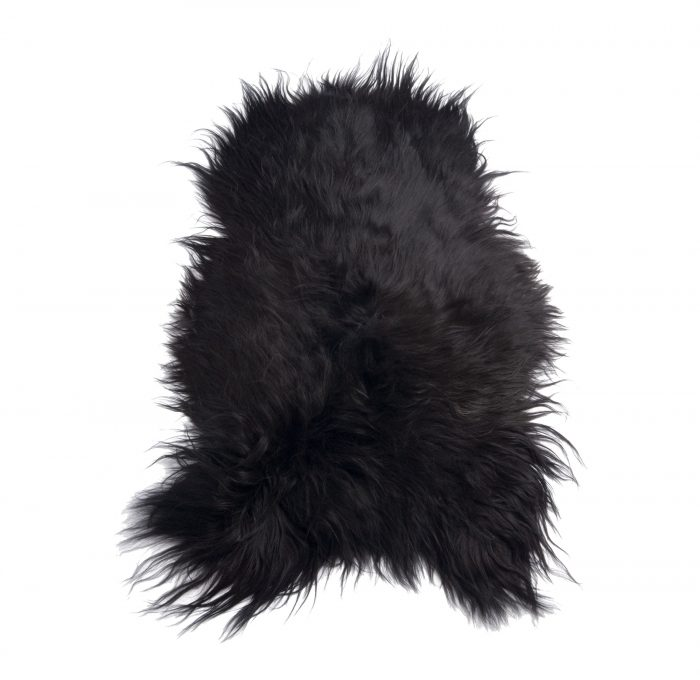 Icelandic Sheepskin pelt Rug Brown Black