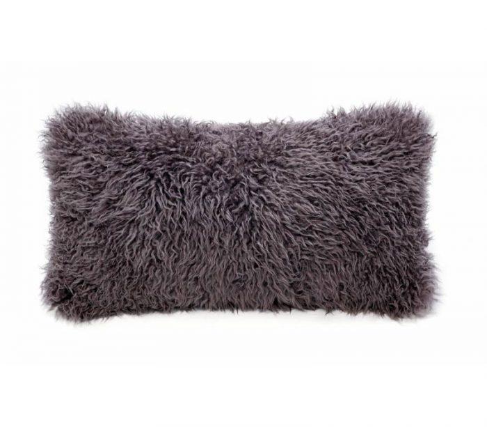 Sheepskin Pillows Naturally Curly Long Wool kidney pillow