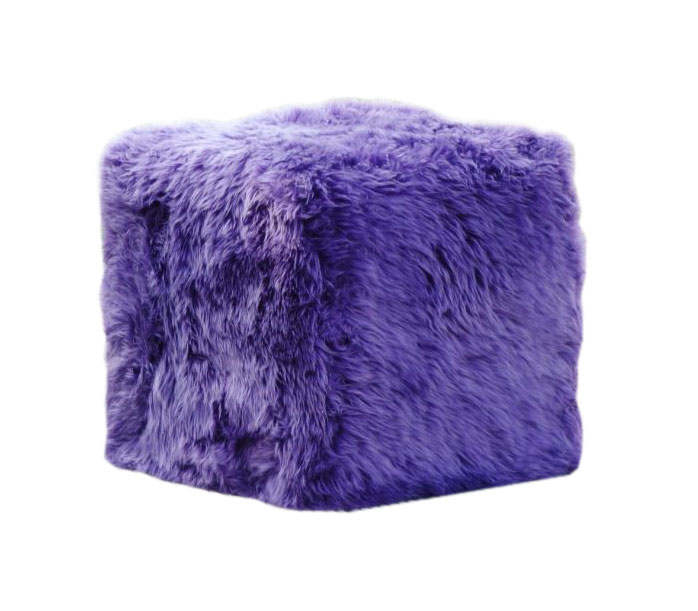 Purple Sheepskin Cube