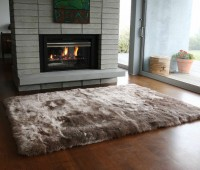 Sheepskin long wool taupe