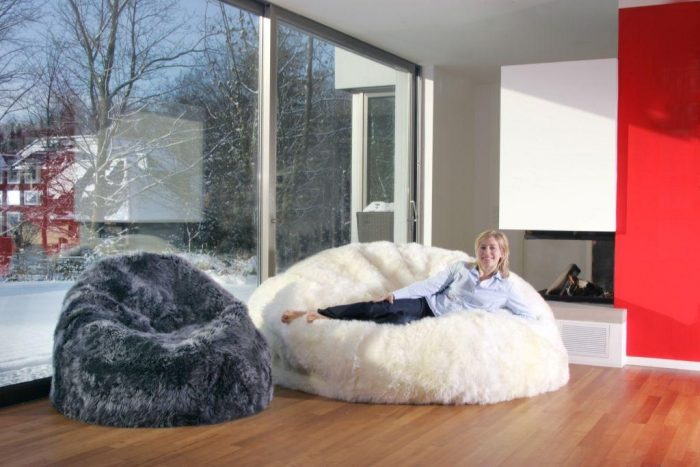 Sheepskin Bean Bag Chairs Large