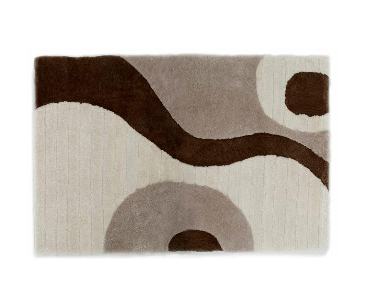 Shearling designer rug earth