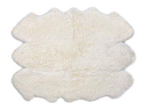Sheepskin Rug 6 Pelt Ivory