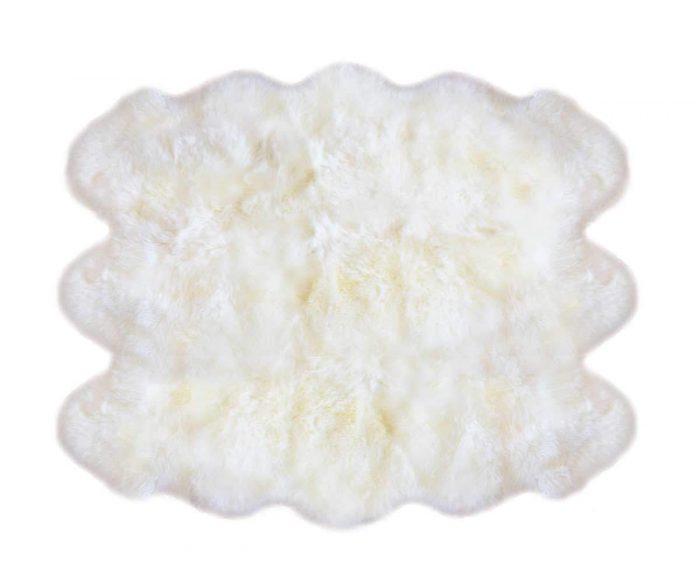 6 Pelt Sheepskin Rug Ivory