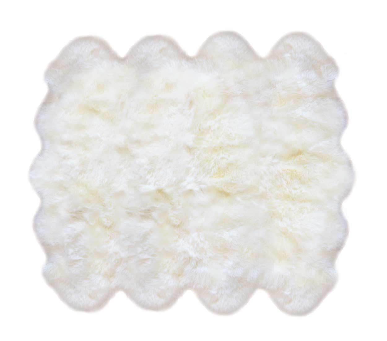 8 Pelt Sheepskin Rug Ivory