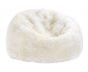 Sheepskin Bean Bag Chair Ivory