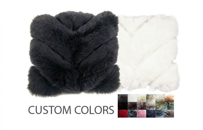 Sheepskin Pillows Chevron Design Custom Colors